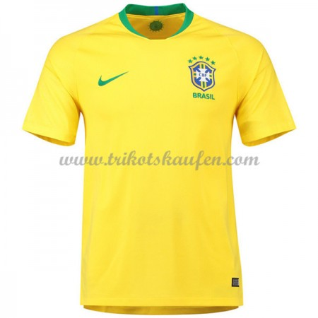 Günstige Brasilien WM 2018 Fußballtrikots Heimtrikot