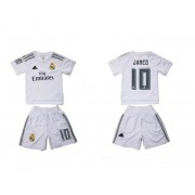 Günstige Real Madrid 2015-16 Kinder Fußball Trikotsatz James 10 Heimtrikot..
